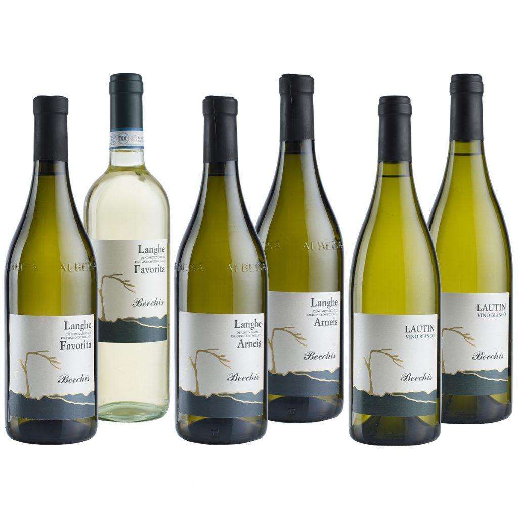 Tipologie di vini bianchi piemontesi